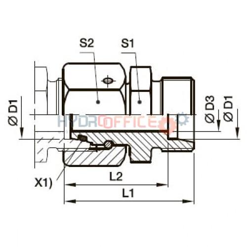 DA дистанційна втулка – перехідник DA35LOMD